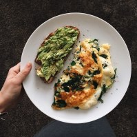 from my own kitchen: cheese-spinach omelette