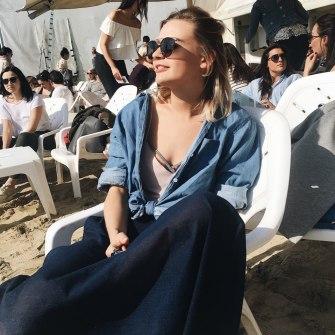 Tel Aviv Beach sunbathing