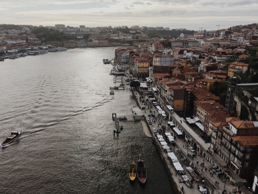 view on Ribeira from the bridge