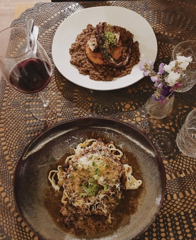 ossobuco and octopus for main dishes