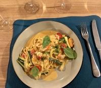 crab pasta @Wine&Crab