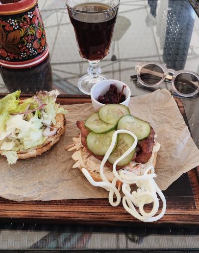 Turkey burger @Berёzka Bar