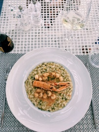 red prawn risotto