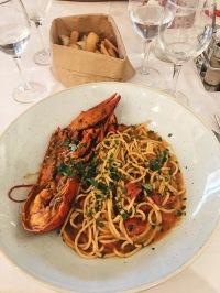 Spaghetti all'astrice @Agosti