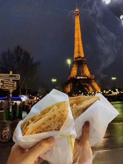 Street cheese crepes