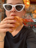 me loving Parisian breakfast